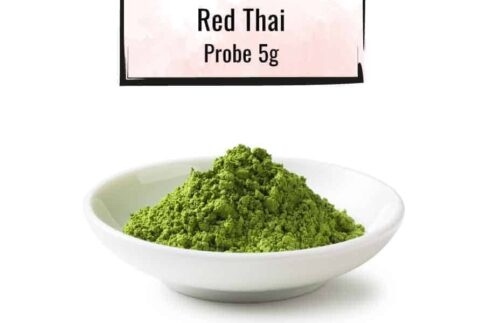 Weisse Schüssel mit einer Red-Thai Probe